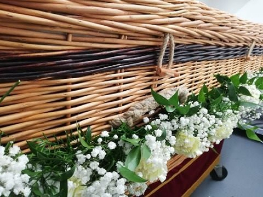 Carnation, Rose & Gypsophilia Coffin Garland