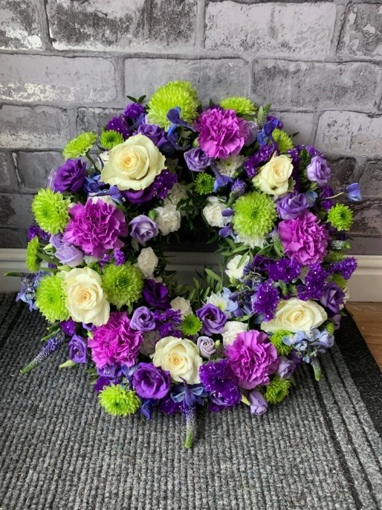 Purple & Blue Wreath