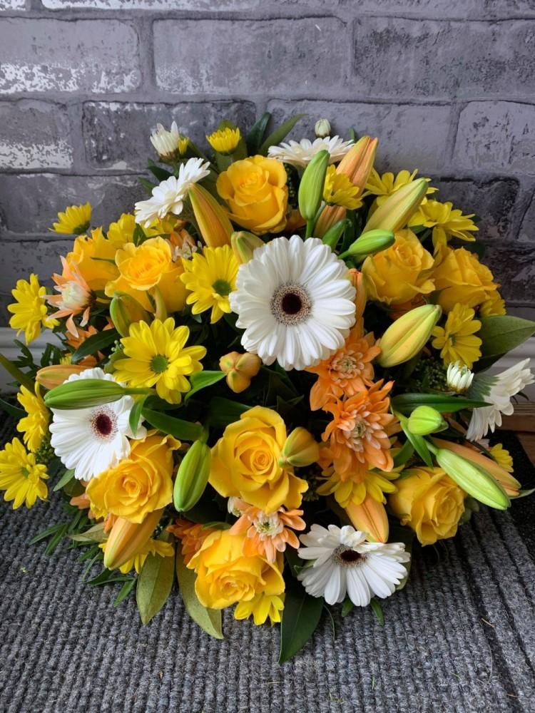 Yellow, White & Orange Posy