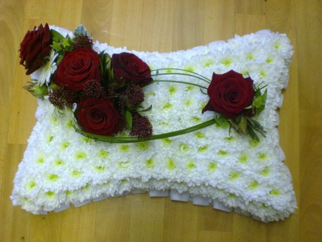 Red Rose Peace Pillow