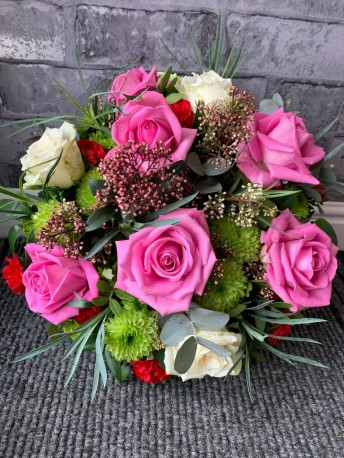 Pink, Red & White Posy
